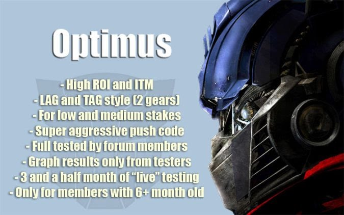 Optimus poker bot profile avatar